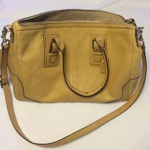 Tan Coach satchel